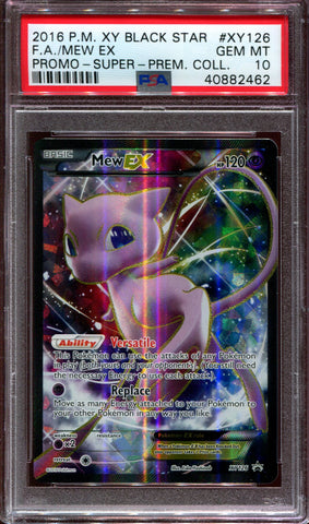 Mew EX - Full Art - Promo - XY Super Premium Collection - XY126 - PSA 10
