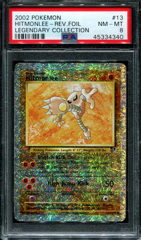 Hitmonlee - 13/110 - Legendary Collection - PSA 8 - Reverse Foil