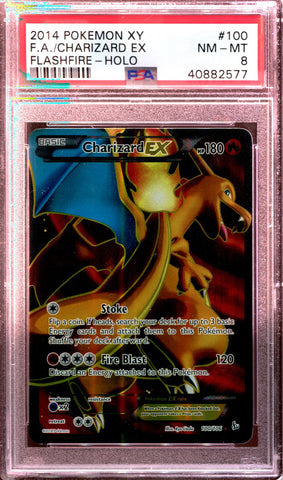 Charizard EX - Full Art - XY Flashfire - 100/106 - PSA 8