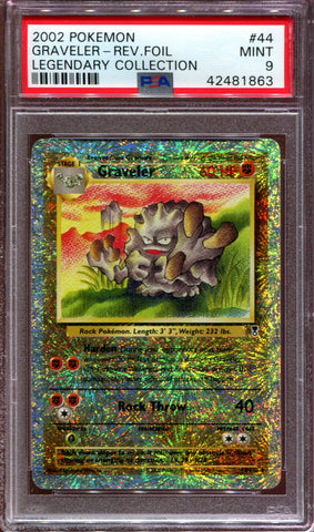 Graveler - Legendary Collection - 44/110 - PSA 9 - Reverse Foil