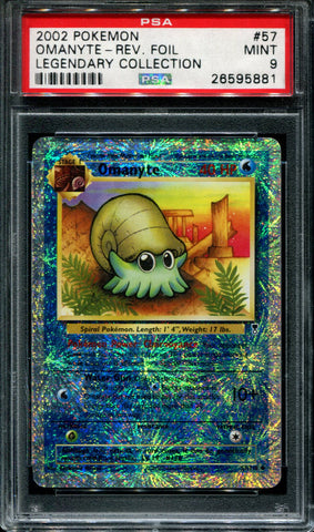 Omanyte - 57/110 - Legendary Collection - PSA 9 - Reverse Foil