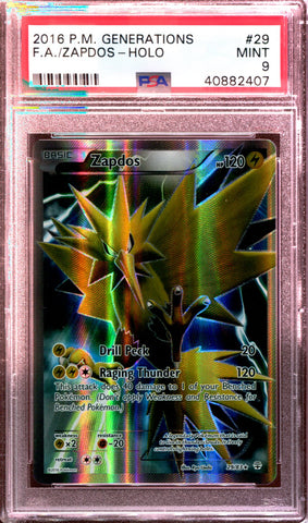 Zapdos - Full Art - Generations - 29/83 - PSA 9