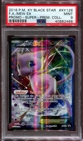 Mew EX - Full Art - Promo - XY Super Premium Collection - XY126 - PSA 9