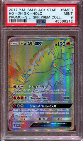 Ho-oh GX - Hyper Rare - Shining Legends Premium Collection - SM80 - PSA 9
