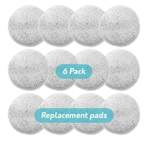 Replacement Pads for Gladwell Gecko Robot Window Cleaner - 6 Pack (12 Pieces)