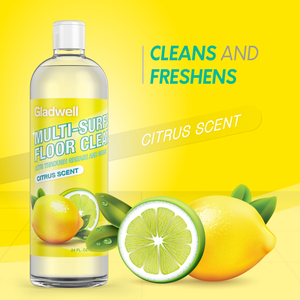 Gladwell Multi Surface Floor Cleaner Disinfectant Detergent and Cleaning Solution - Citrus