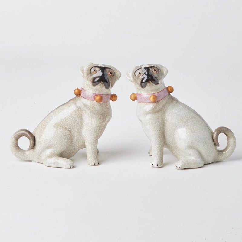 Pair of China Pug Dogs