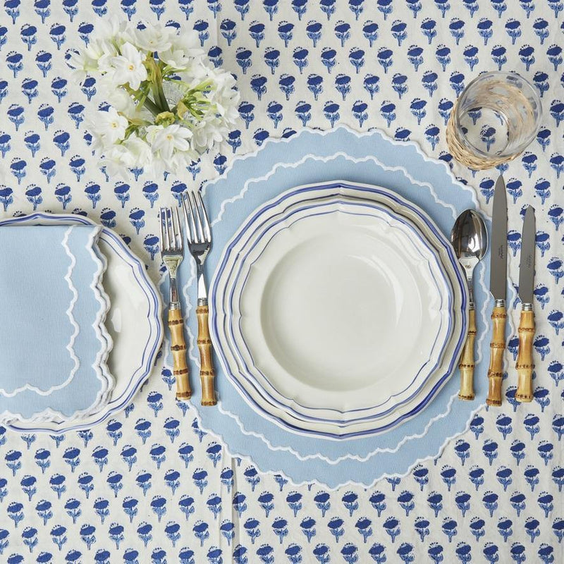 Blue Scallop Dinner Plate