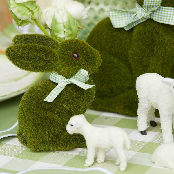 Gingham Moss Bunny Family