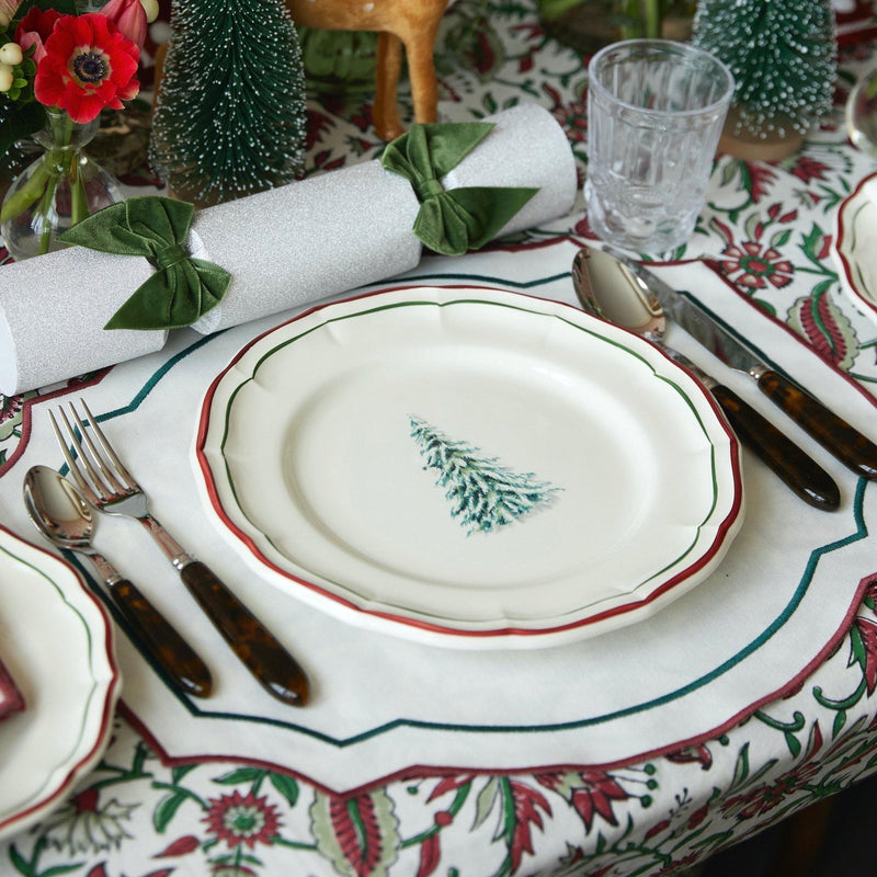 Christmas Tree Scallop Edge Dinner Plate