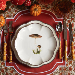 Scalloped Mushroom Starter Plate (Brown)