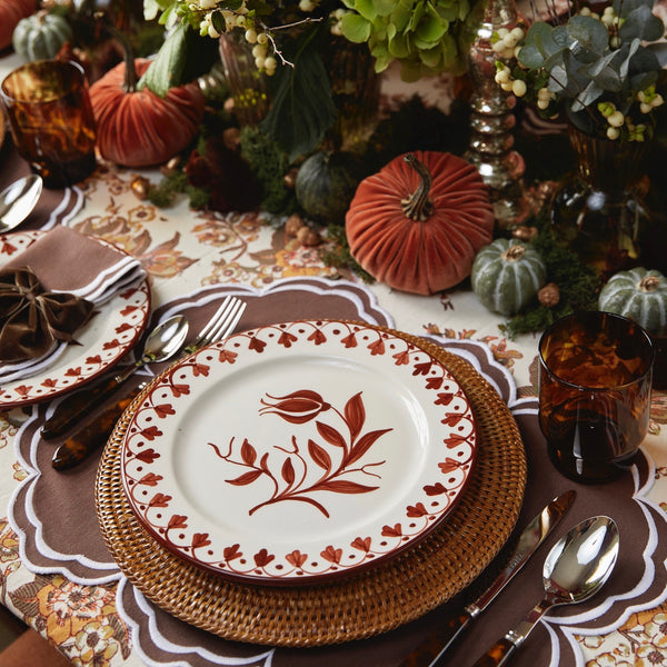 Seville Brown Tulip Dinner Plate