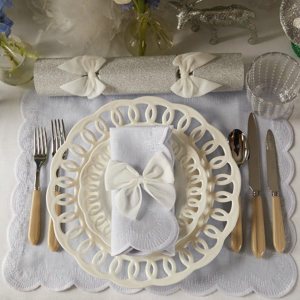 Dove Grey Isabella Placemats (Set of 4)