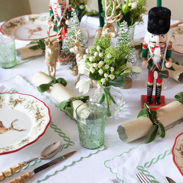 PAIR OF GREEN JOLLY NUTCRACKERS