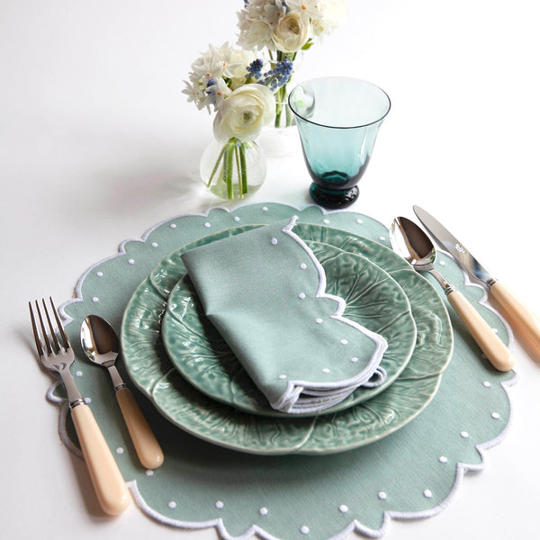 Soft Blue Lettuce Side Plate