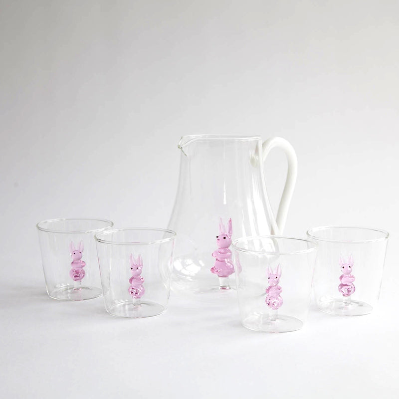 Peek-a-boo Bunny Water Glasses (Set of 4)