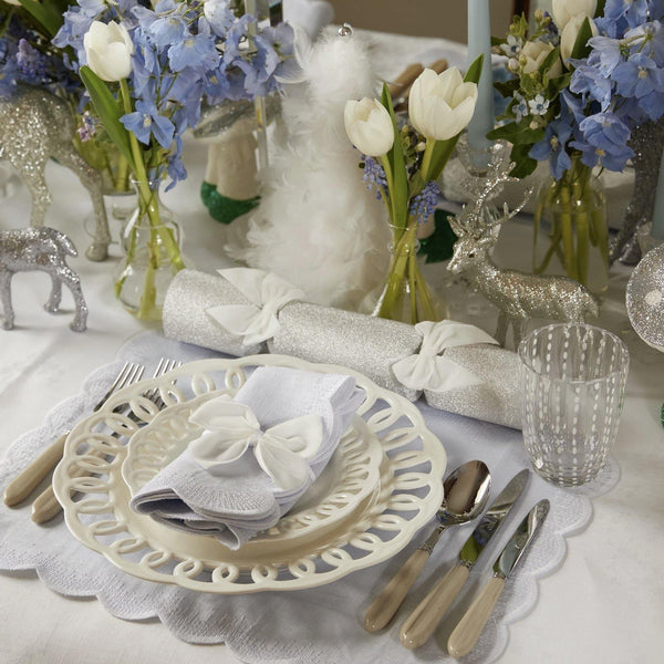 Dove Grey Isabella Placemats & Napkins (Set of 4)