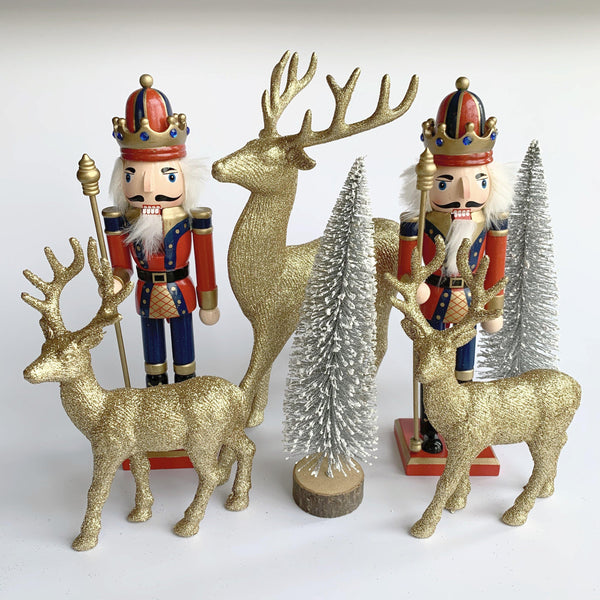 Blue Jolly Nutcracker Decorations Set