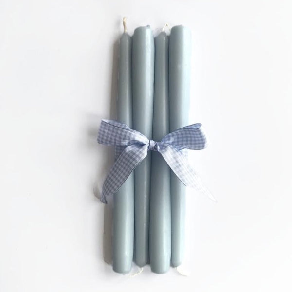 Duck Egg Blue Candles (Set of 4)