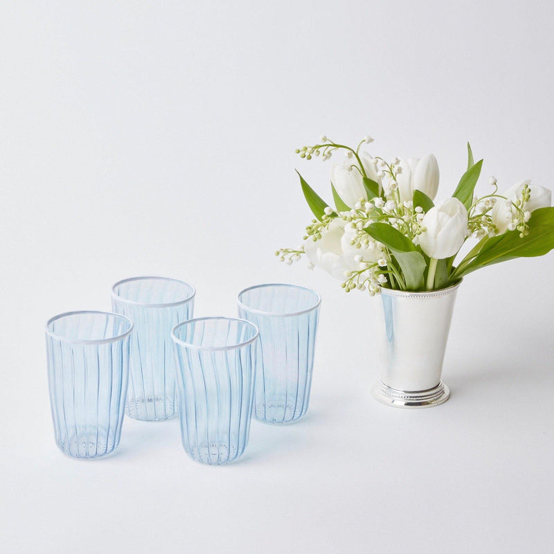 Blue & White Rim Glassware (Set of 12)