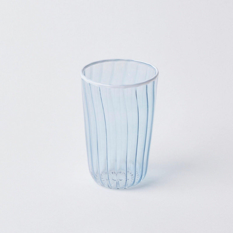 Blue & White Rim Water Glasses (Set of 4)