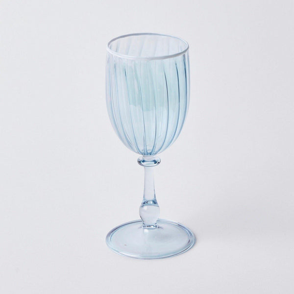Blue & White Rim Wine Glasses (Set of 4)