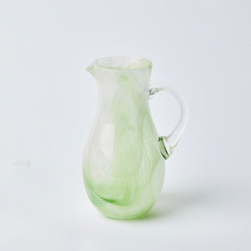 Murano Apple Green Glasses & Jug (Set of 6)