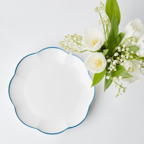 Hand Edged Scallop Dinner Plate