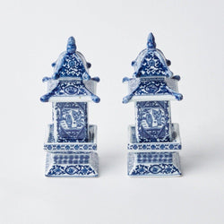 Pair of Small Porcelain Pagodas