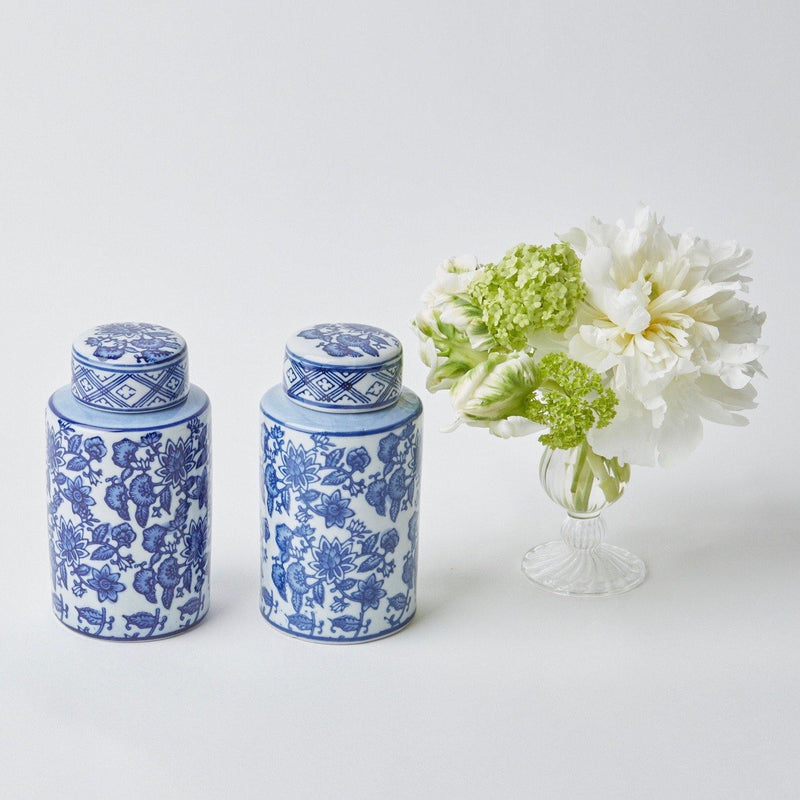 Round Chinoiserie Ginger Jars (Pair)