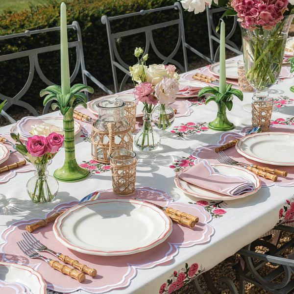 Fuchsia Pink Rose Garden tablecloth