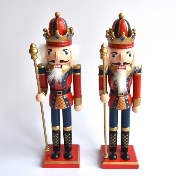 Pair Of Blue Jolly Nutcrackers