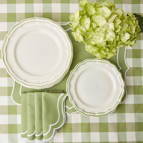 Green Scallop Dinner Plate