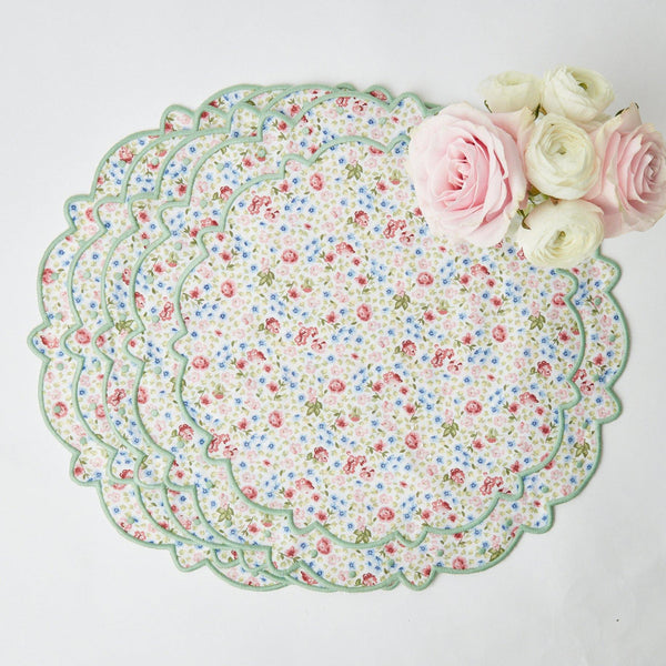 Dolly Ditsy Green Placemats (Set of 4)