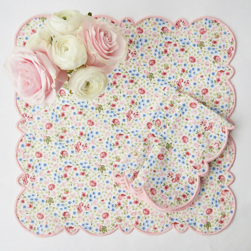 Dolly Ditsy Pink Placemats & Napkins (Set of 4)