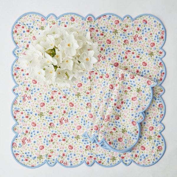 Dolly Ditsy Blue Napkins (Set of 4)