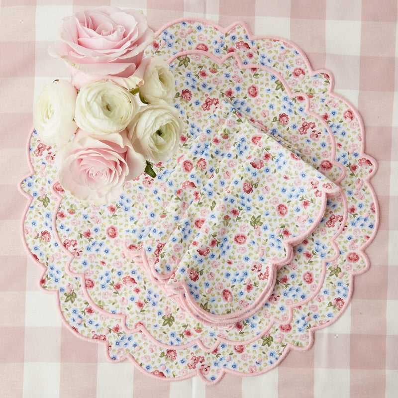 Dolly Ditsy Pink Placemats (Set of 4)