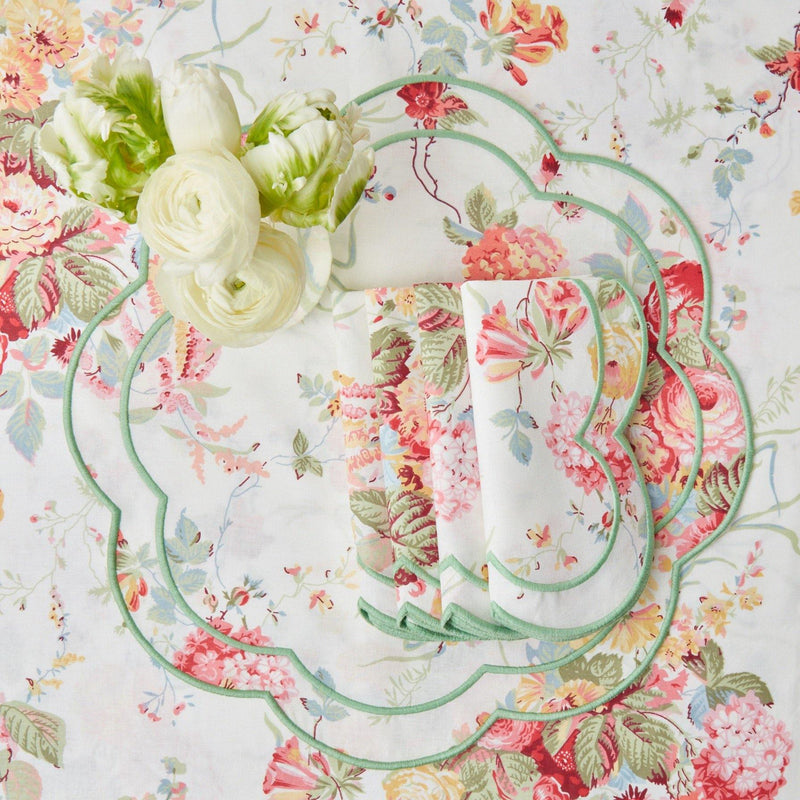 Sibyl Chintz Green Placemats & Napkins (Set of 4)