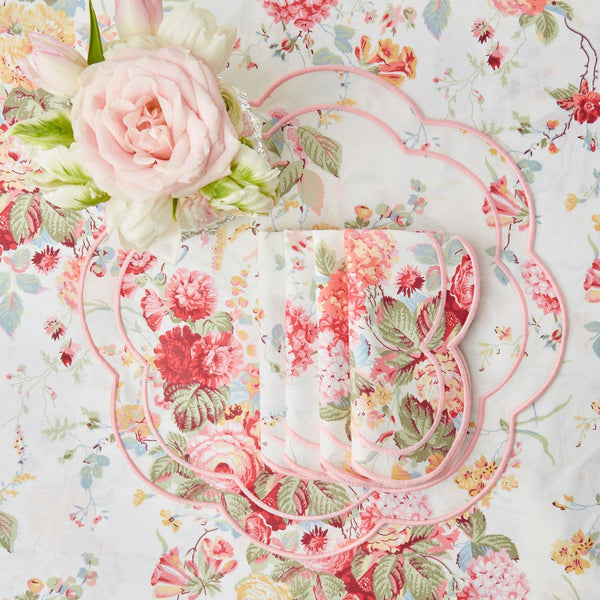 Sibyl Chintz Pink Placemats (Set of 4)