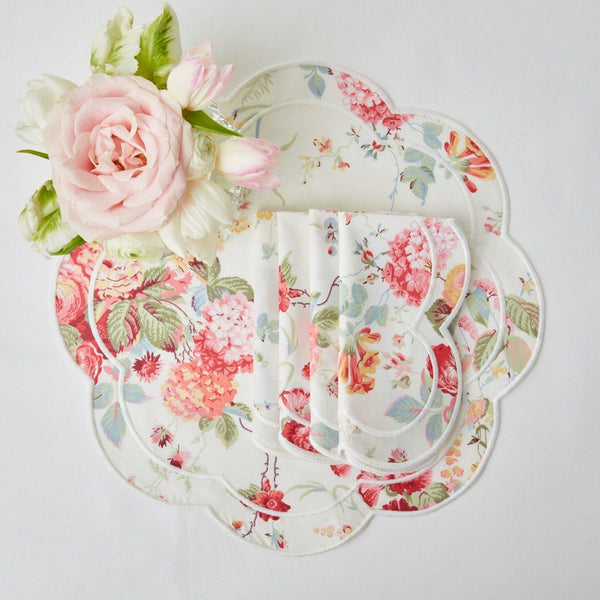 Sibyl Chintz Ivory Placemats (Set of 4)