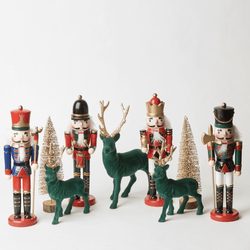 Jolly Nutcracker Decoration Set