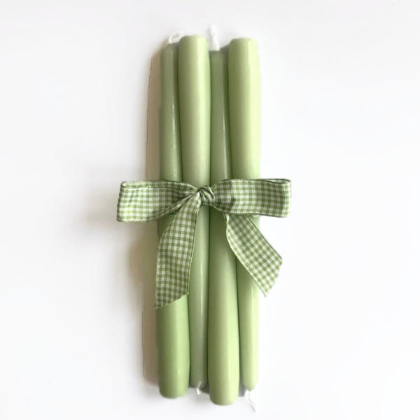 Spring Green Candles (Set of 4)