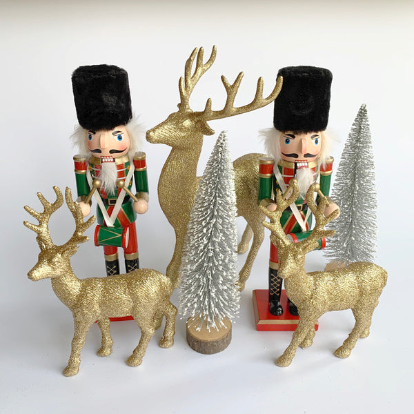 Green Jolly Nutcracker Decorations Set