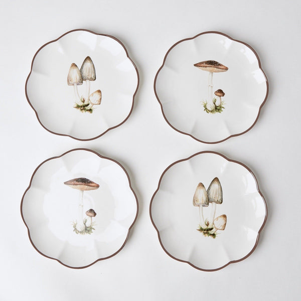 Scalloped Mushroom Starter Plate (Grey)