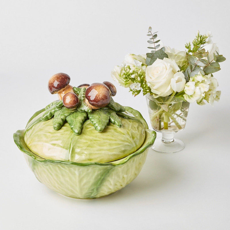 Porcini Mushroom Cabbage Serving Bowl