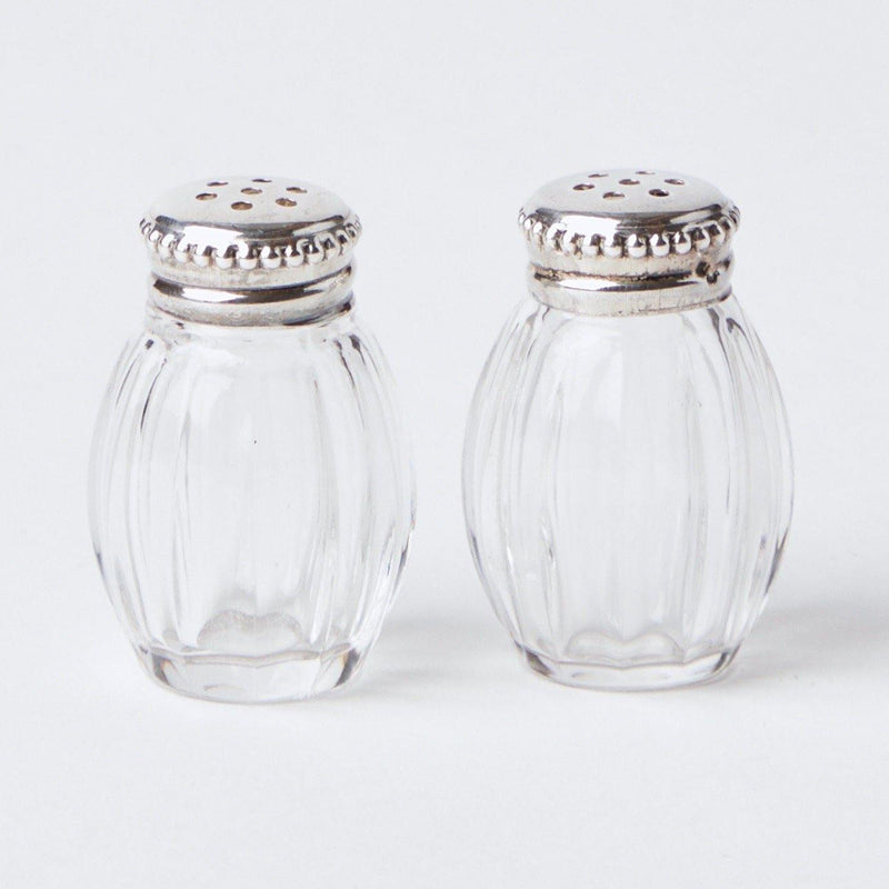 Miniature Silver Crystal Salt & Pepper Shakers