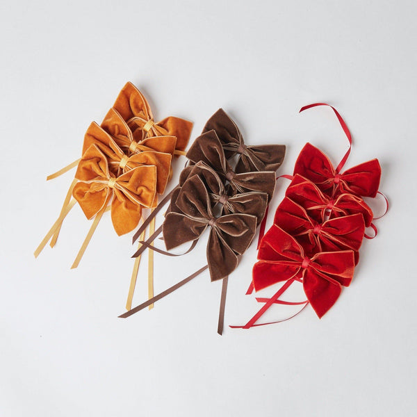 Burnt Orange Napkin Bows (Set of 4)