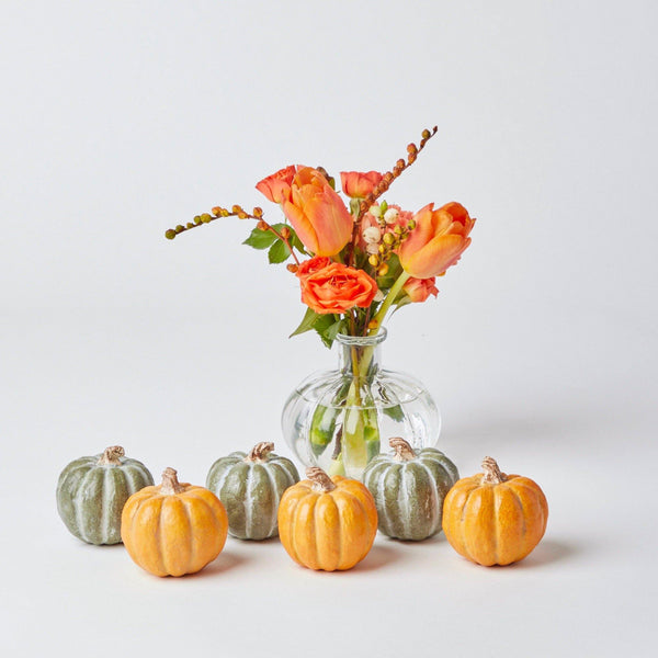 Orange & Green Assorted Pumpkins (Set of 6)