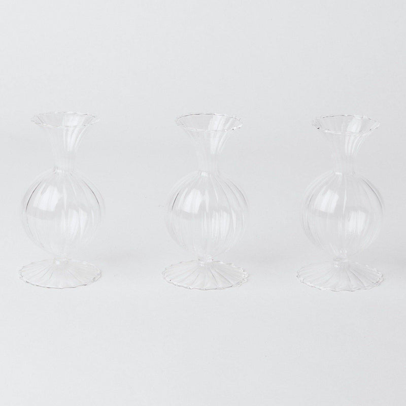 White Rose Bud Vase (Set of 3)