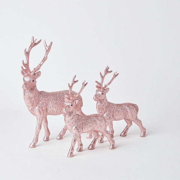 Rose Pink Reindeer Family